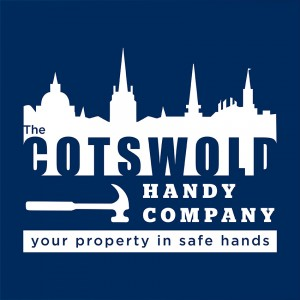 Cotswold Handy Company Logo white on blue